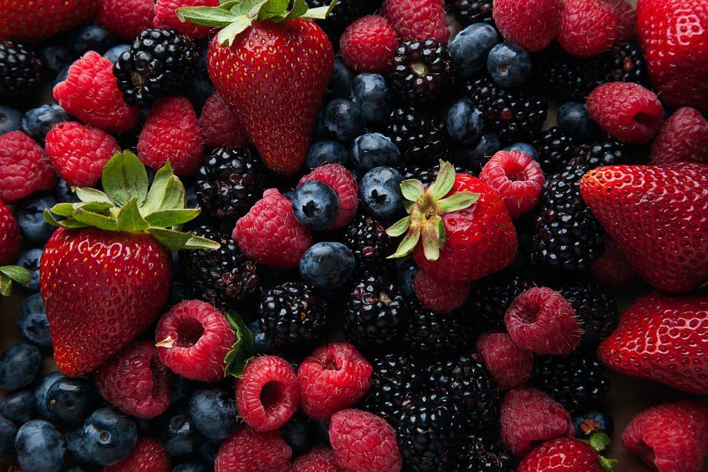 Strawberries, Blueberries & Raspberries